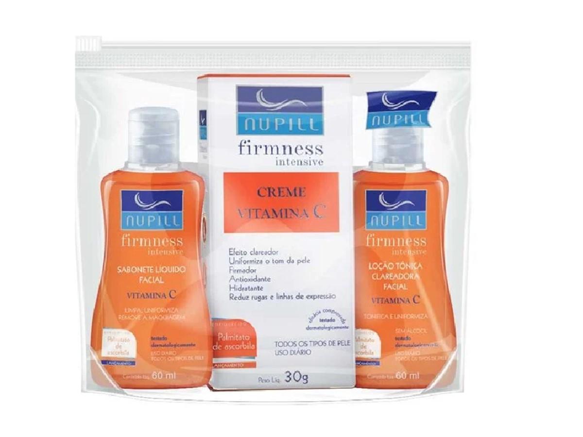 Kit Nupill Firmness Intensive Vitamina C (sab+tonico+creme)  - Lemis