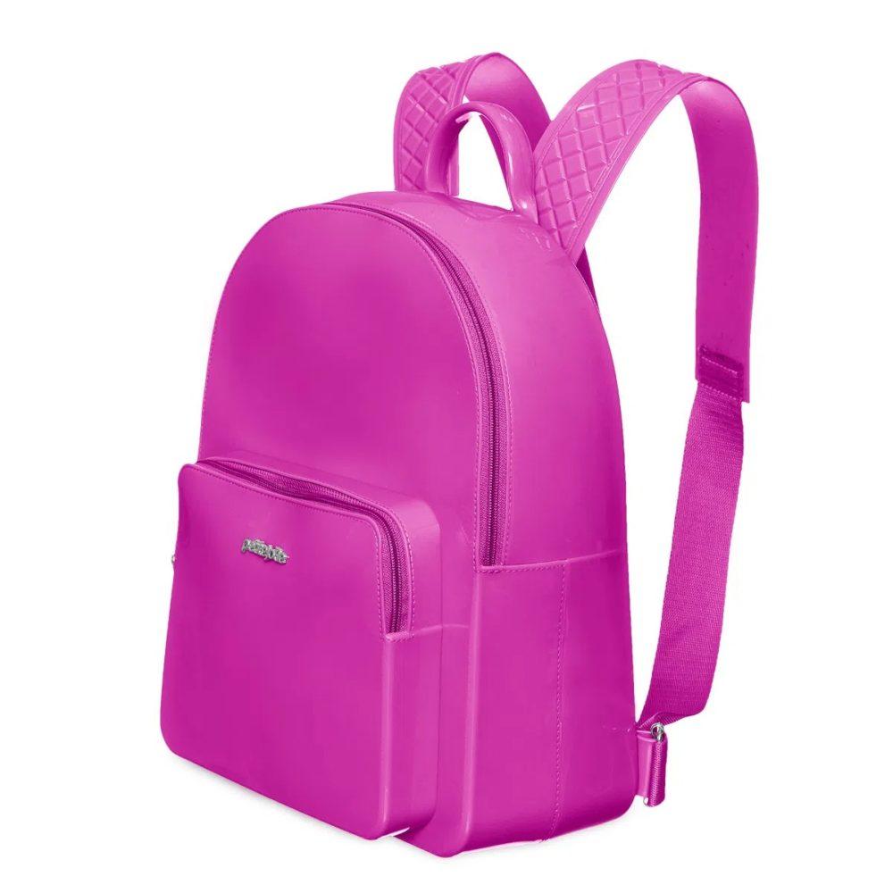 Mochila Petite Jolie Lisa Rosa Pink Framboesa PVC  - Lemis
