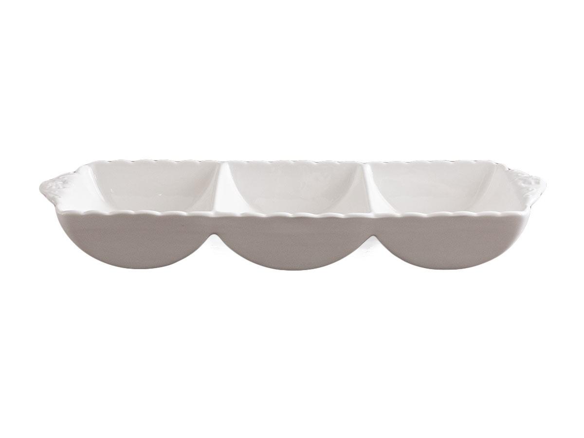Petisqueira de Porcelana Super White Queen  - Lemis