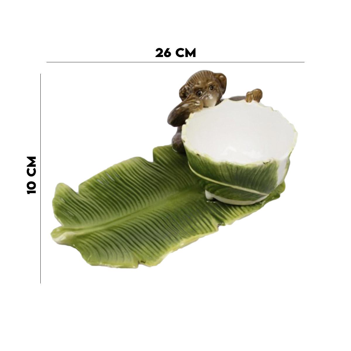 Petisqueira Folha de Banana Verde Feito a Mão Zanatta  - Lemis