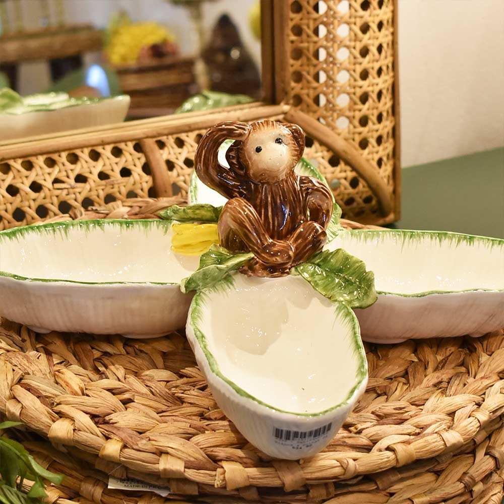 Petisqueira Folhas de Bananeira Feito a Mão Zanatta  - Lemis