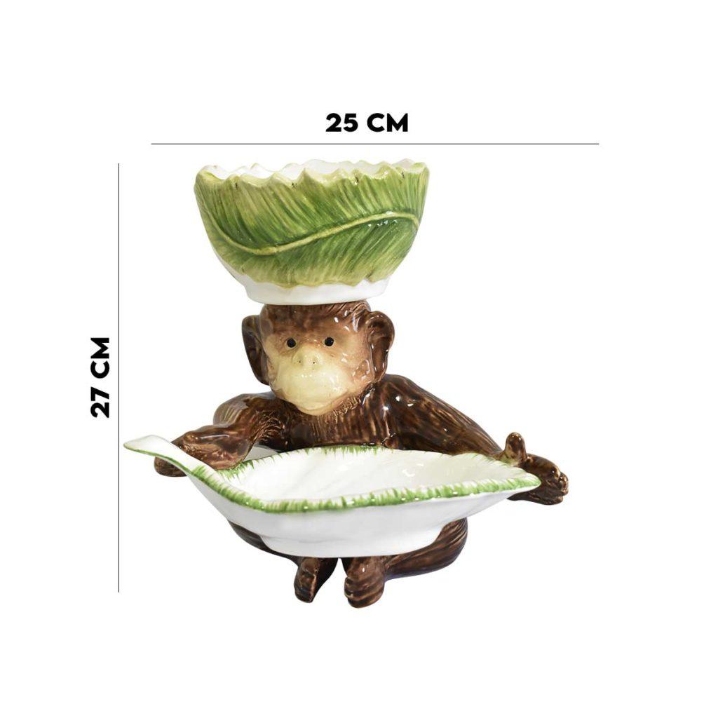 Petisqueira Macaco e Folha com Bowl Zanatta  - Lemis
