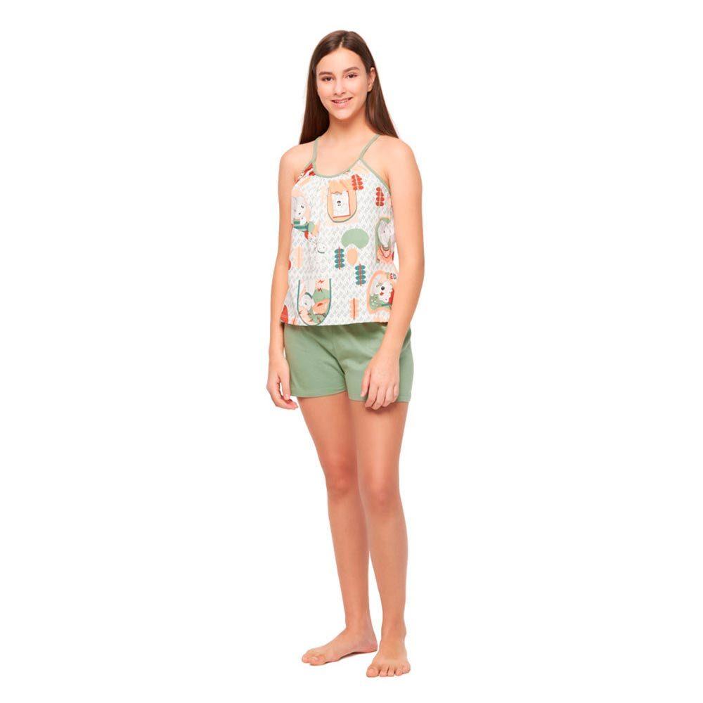 Pijama Feminino Alça e Short Sonhart  - Lemis