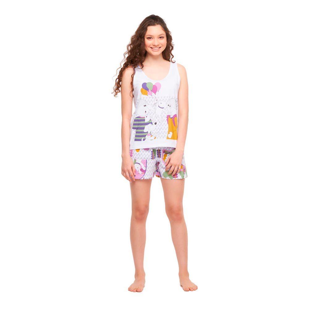 Pijama Feminino Regata e Short Sonhart  - Lemis