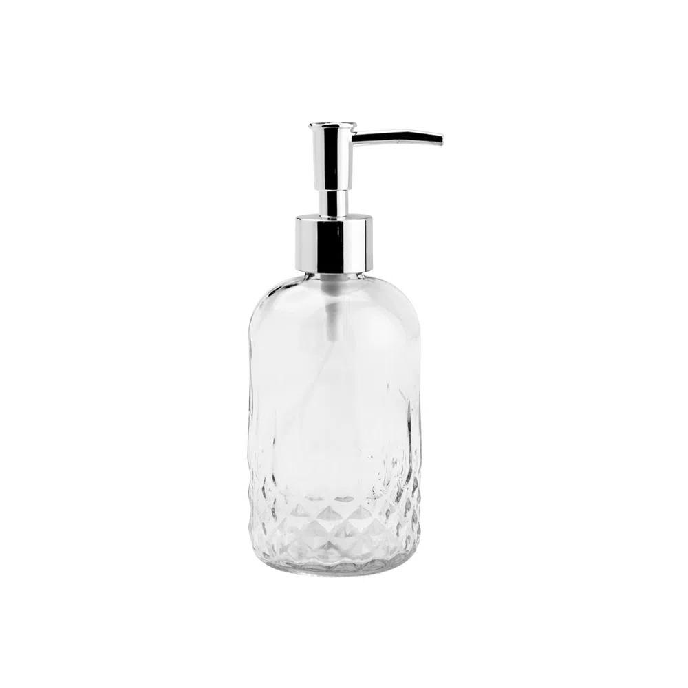 Porta Sabonete Liquido de Vidro Sodo-Cálcico Bico de Jaca 430ml Lyor  - Lemis