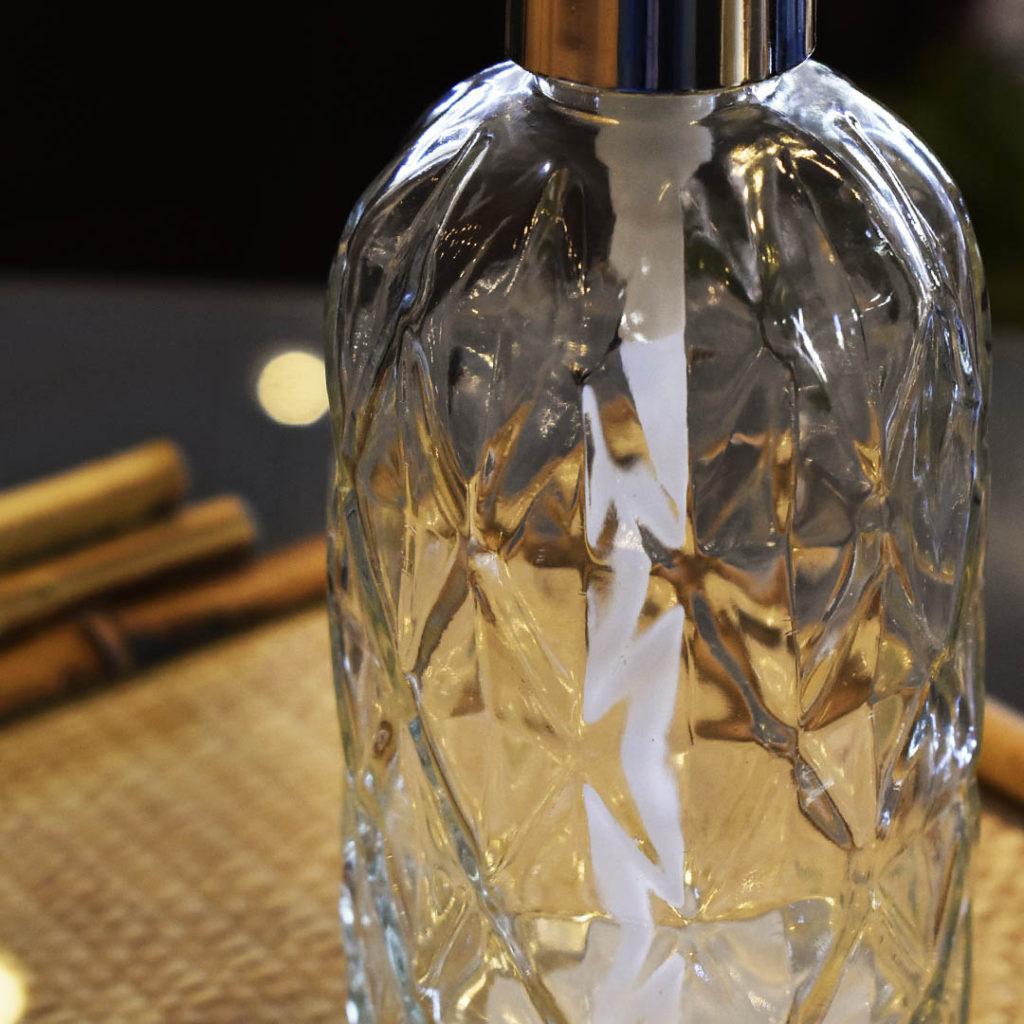 Porta Sabonete Liquido de Vidro Sodo-Cálcico Diamond 430ml Lyor  - Lemis