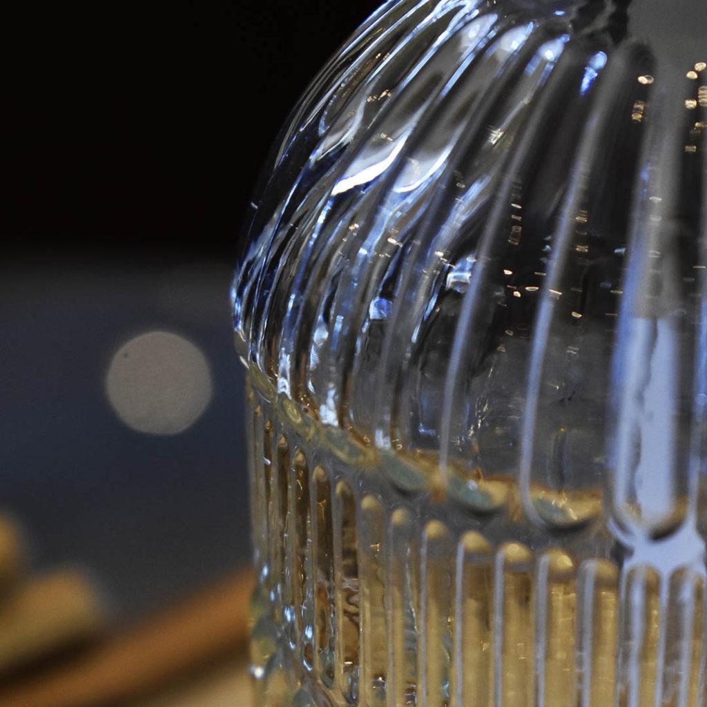 Porta Sabonete Liquido de Vidro Sodo-Cálcico Riscos 430ml Lyor  - Lemis