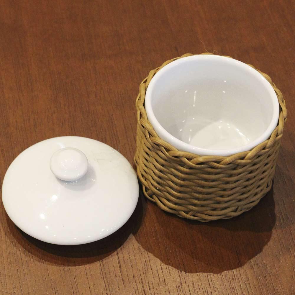 Pote para Banheiro Pequeno Marrom Médio  - Lemis