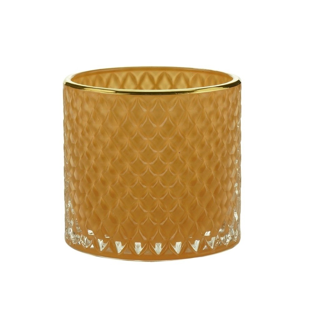 Potiche Decorativo Vidro Sodo-Calcico Laranja  - Lemis