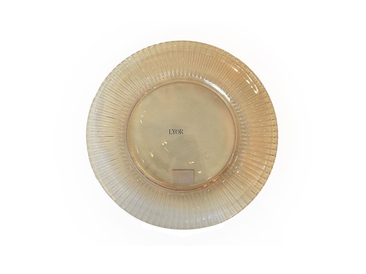 Prato de Sobremesa 19cm Cristal de Chumbo Renaissance Âmbar  - Lemis