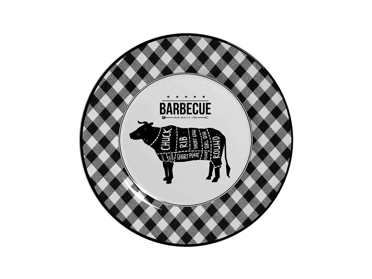 Prato Raso Alleanza Xadrez Barbecue 2ª Linha  - Lemis