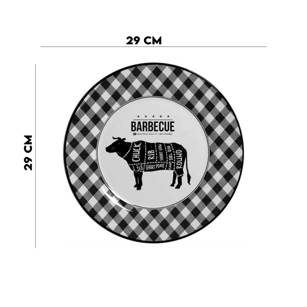 Prato Raso Barbecue 1ª Linha Alleanza  - Lemis