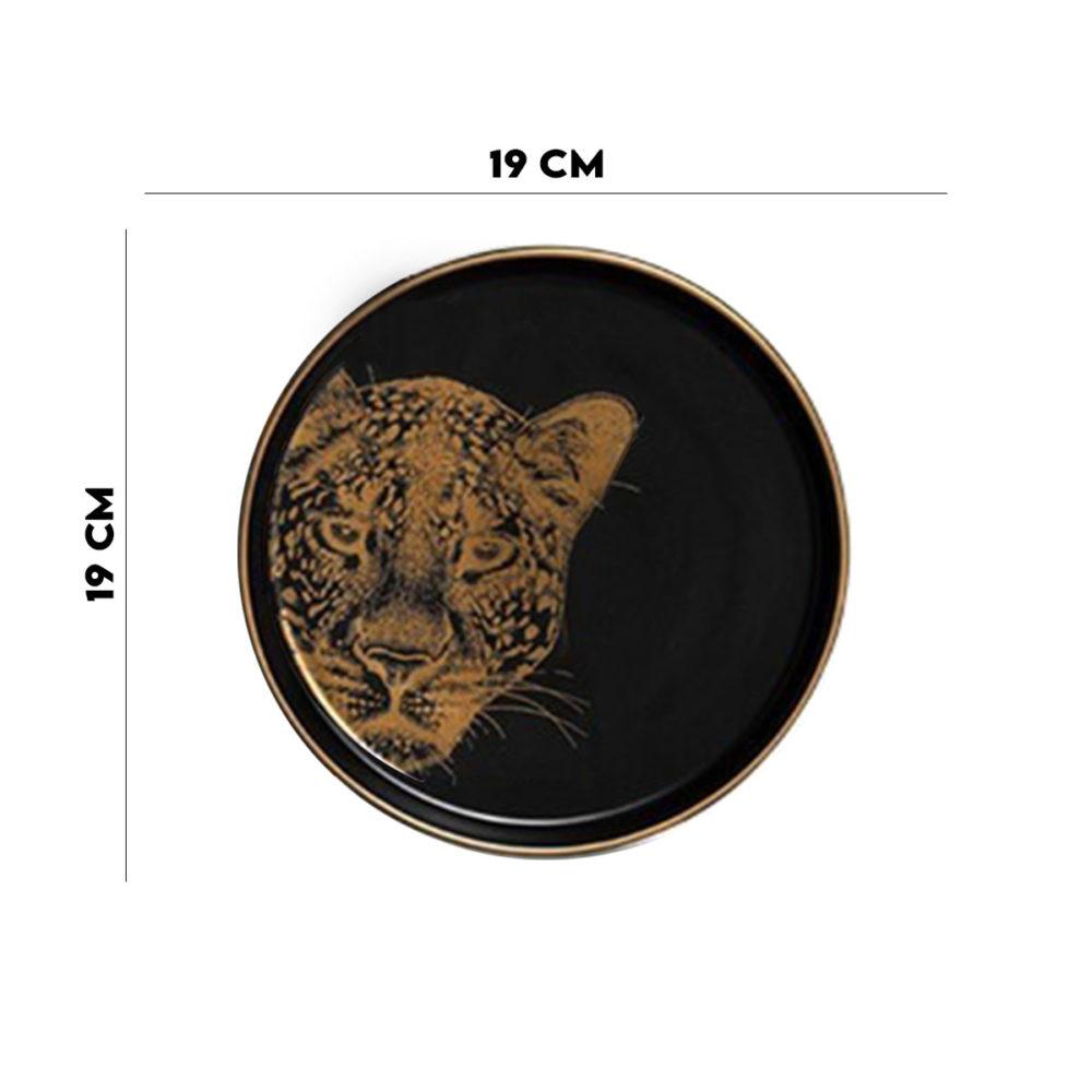 Prato Sobremesa Concept Leopard 1ª Linha Scalla  - Lemis