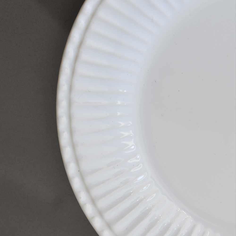 Prato Sobremesa Frisada Branco 1ª Linha  - Lemis