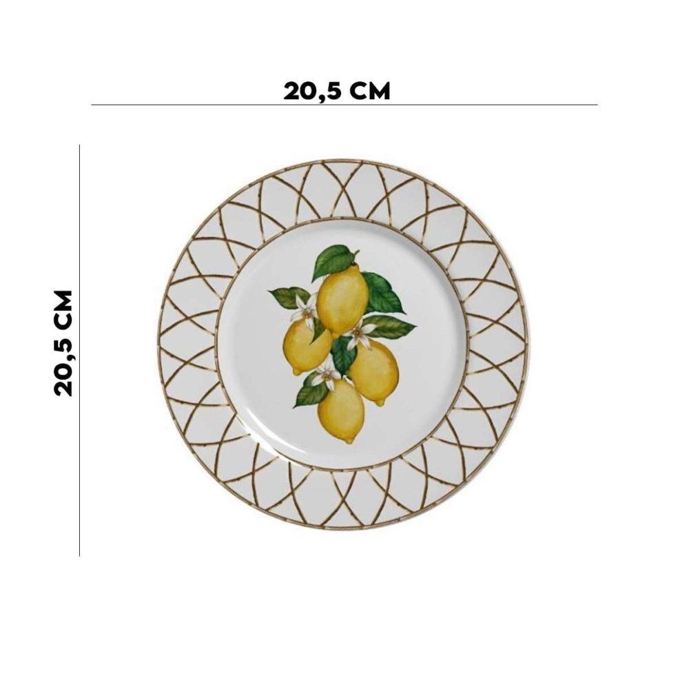 Prato Sobremesa Siciliano 1ª Linha Alleanza  - Lemis
