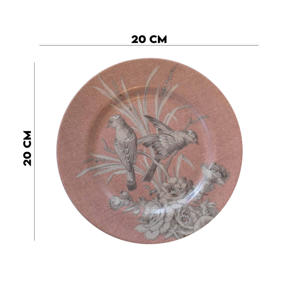 Prato Sobremesa Zenith Rosé 2º Linha Alleanza 20 Cm  - Lemis