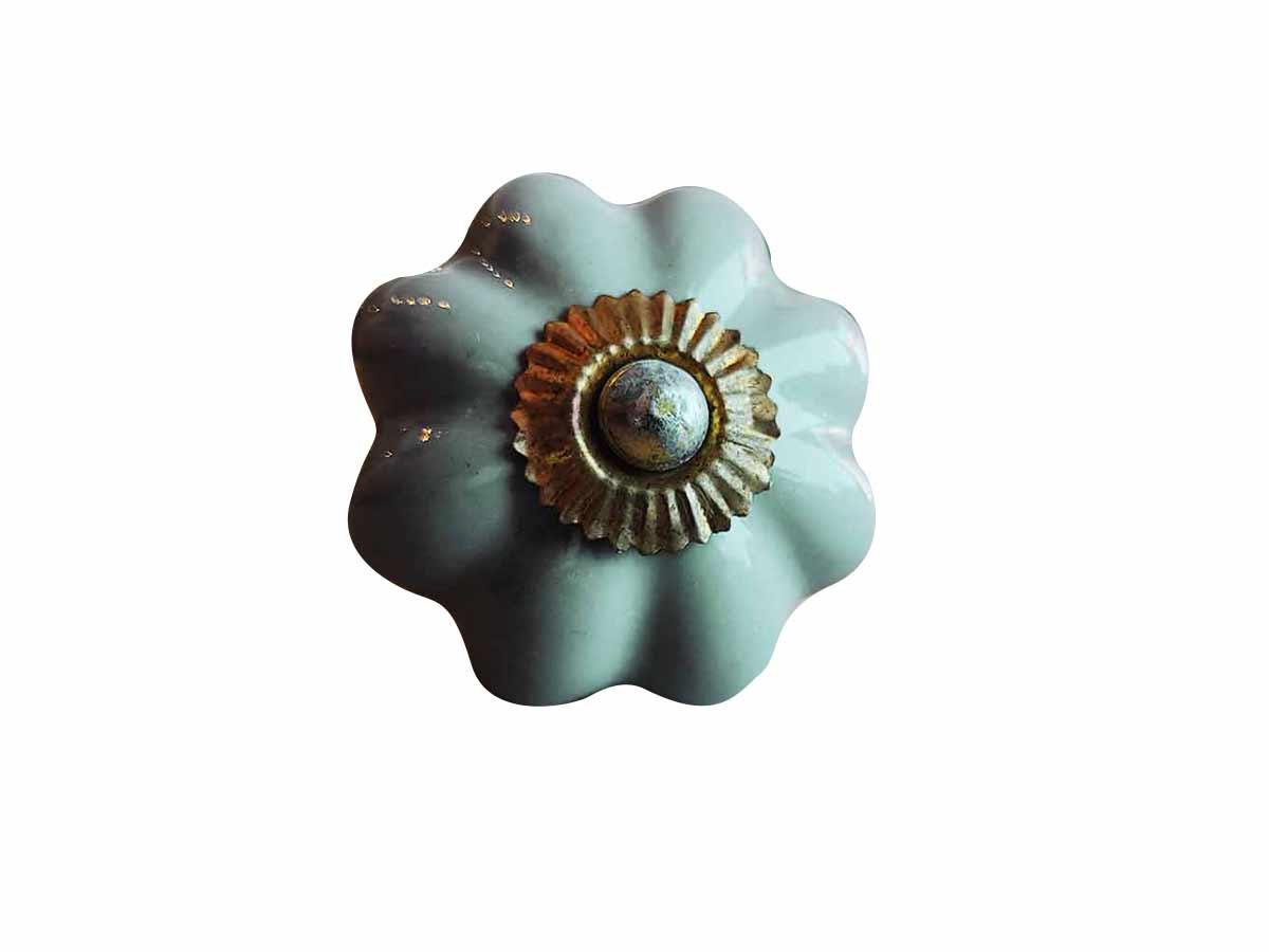 Puxador em Cerâmica Cinza  - Lemis