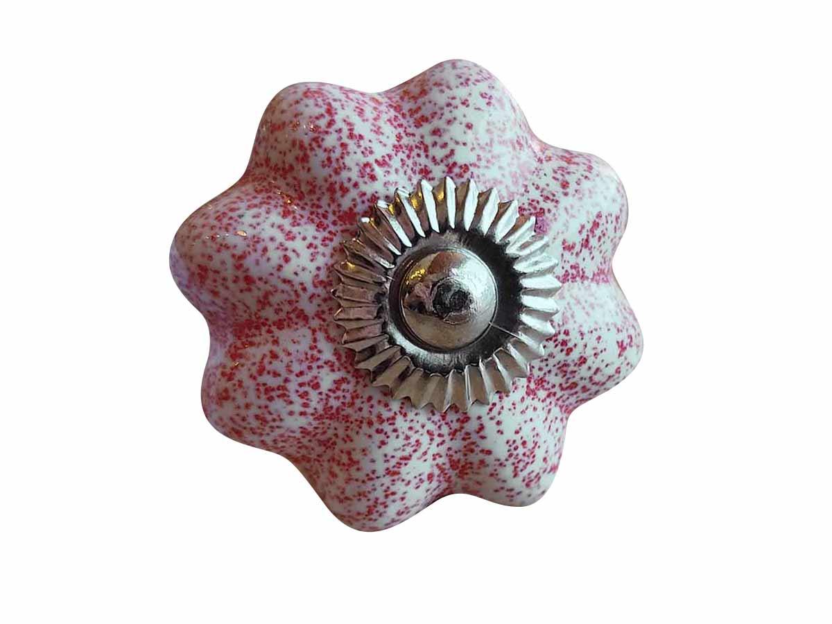 Puxador Porta em Cerâmica Rosa Claro  - Lemis