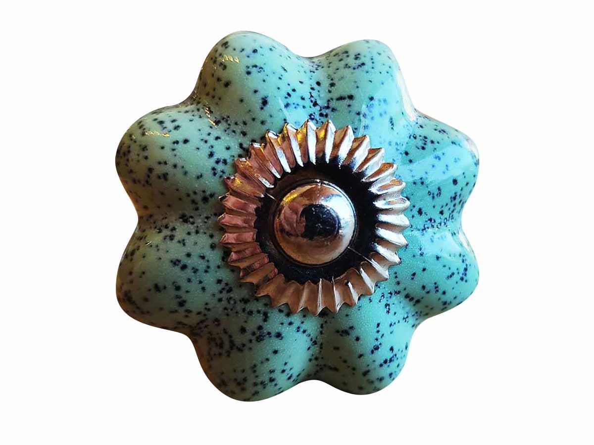 Puxador Porta em Cerâmica turquesa  - Lemis