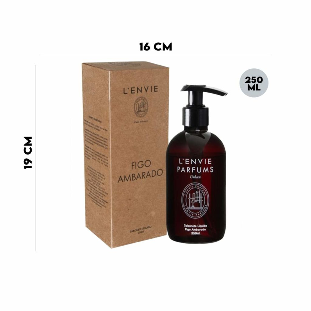 Sabonete Liquido Figo Ambarado 250ml Lenvie  - Lemis