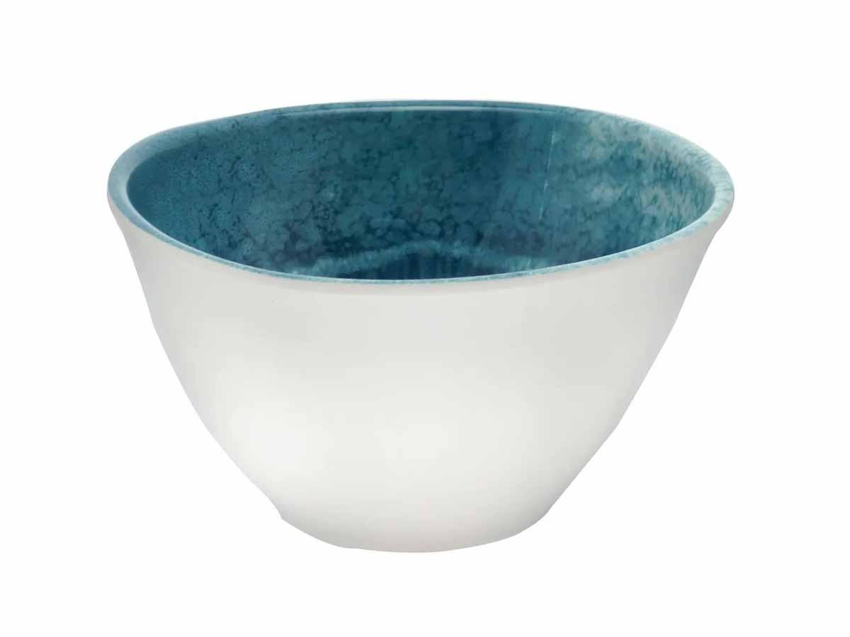 Saladeira Melamina Aqua Azul 25cm  - Lemis