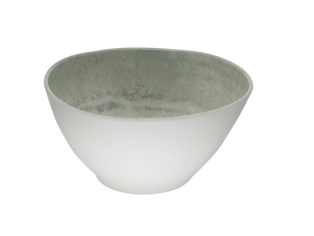 Saladeira Melamina Aqua Cinza / 25x12cm  - Lemis