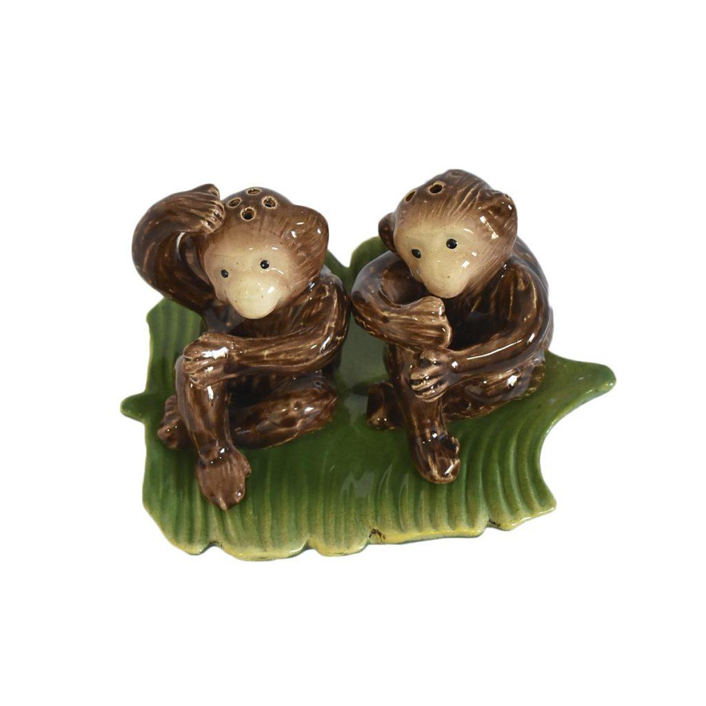 Saleiro e Pimenteiro de Macaco Feito a Mão Zanatta  - Lemis