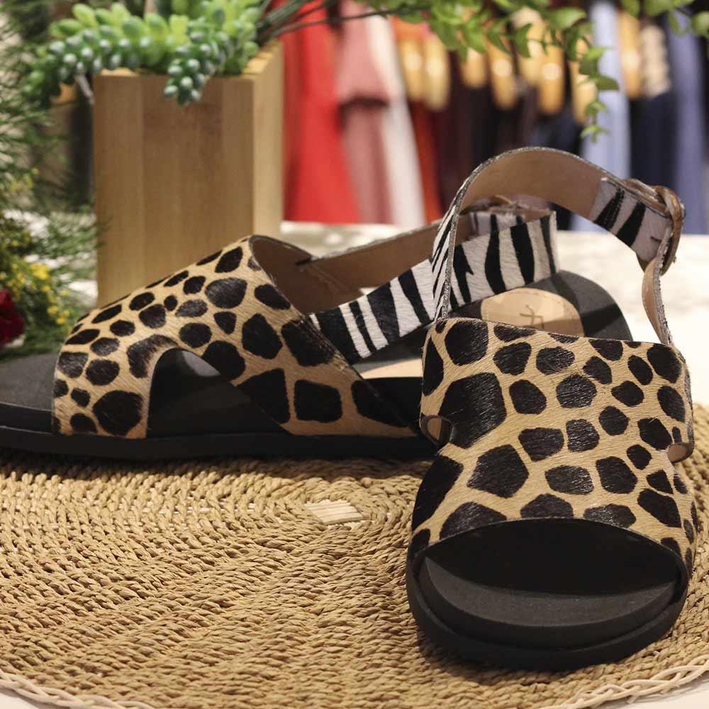 Sandalia Ferruci Girafa e Zebra  - Lemis