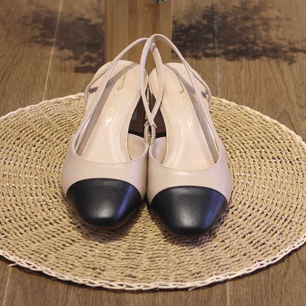 Sapato Tabita Nude e Preto  - Lemis