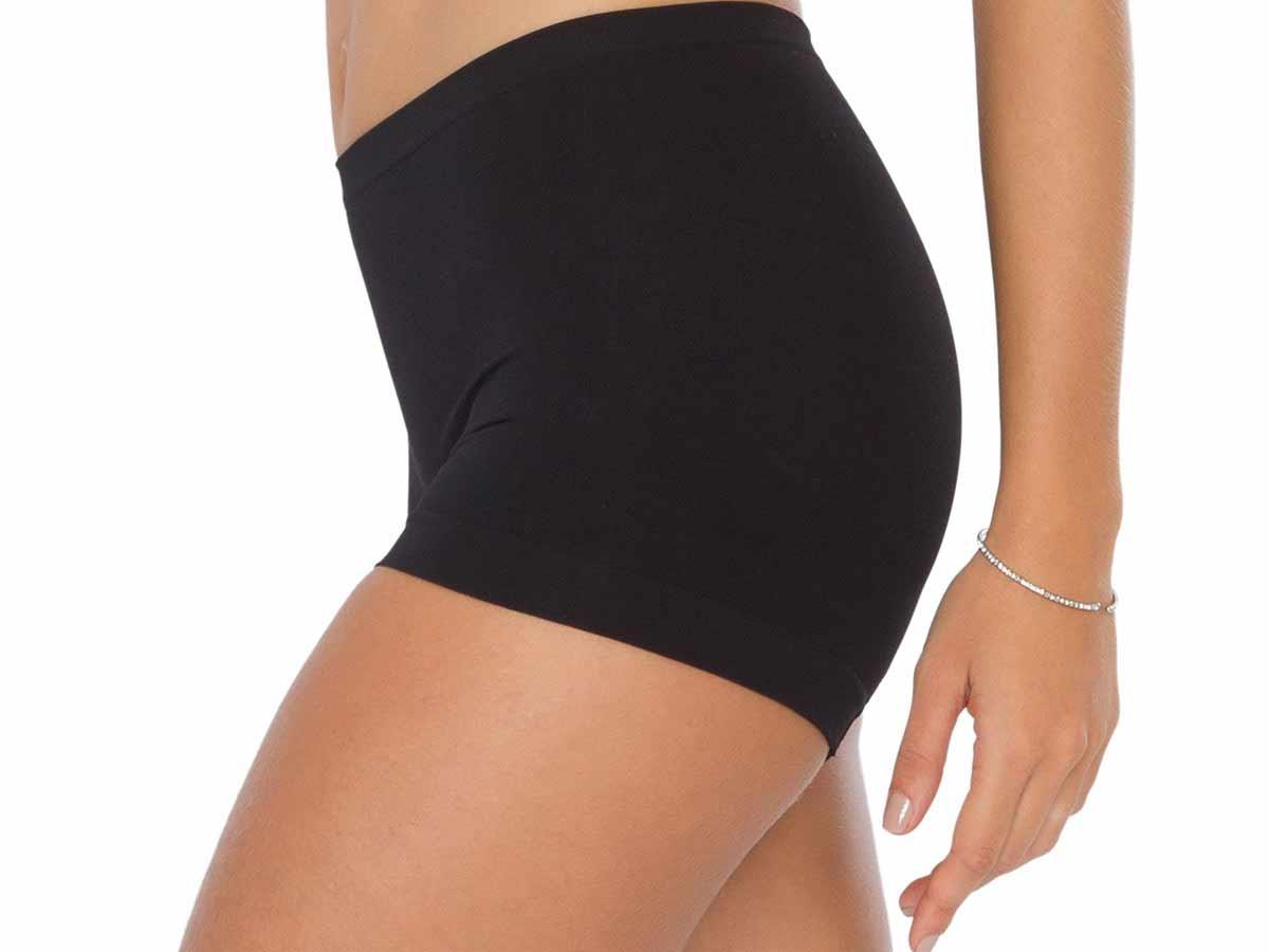 Shorts  Feminino Suave Compressão Basic Preto Plié  - Lemis