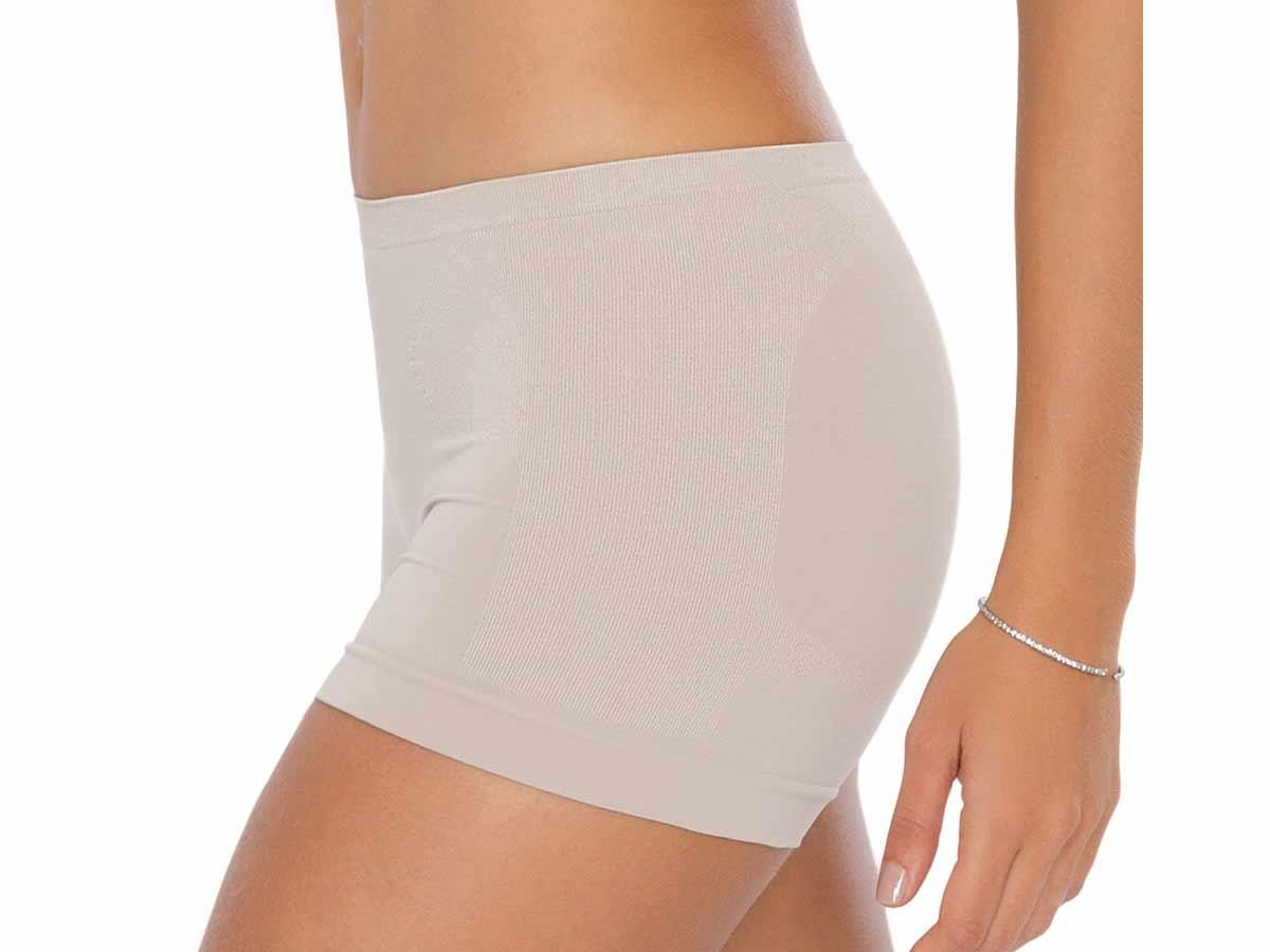 Shorts Feminino Suave Compressão Bege Plié  - Lemis