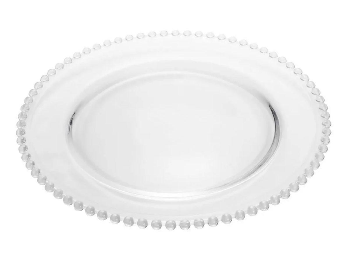 Sousplat de Cristal de Chumbo Pearl Clear  - Lemis