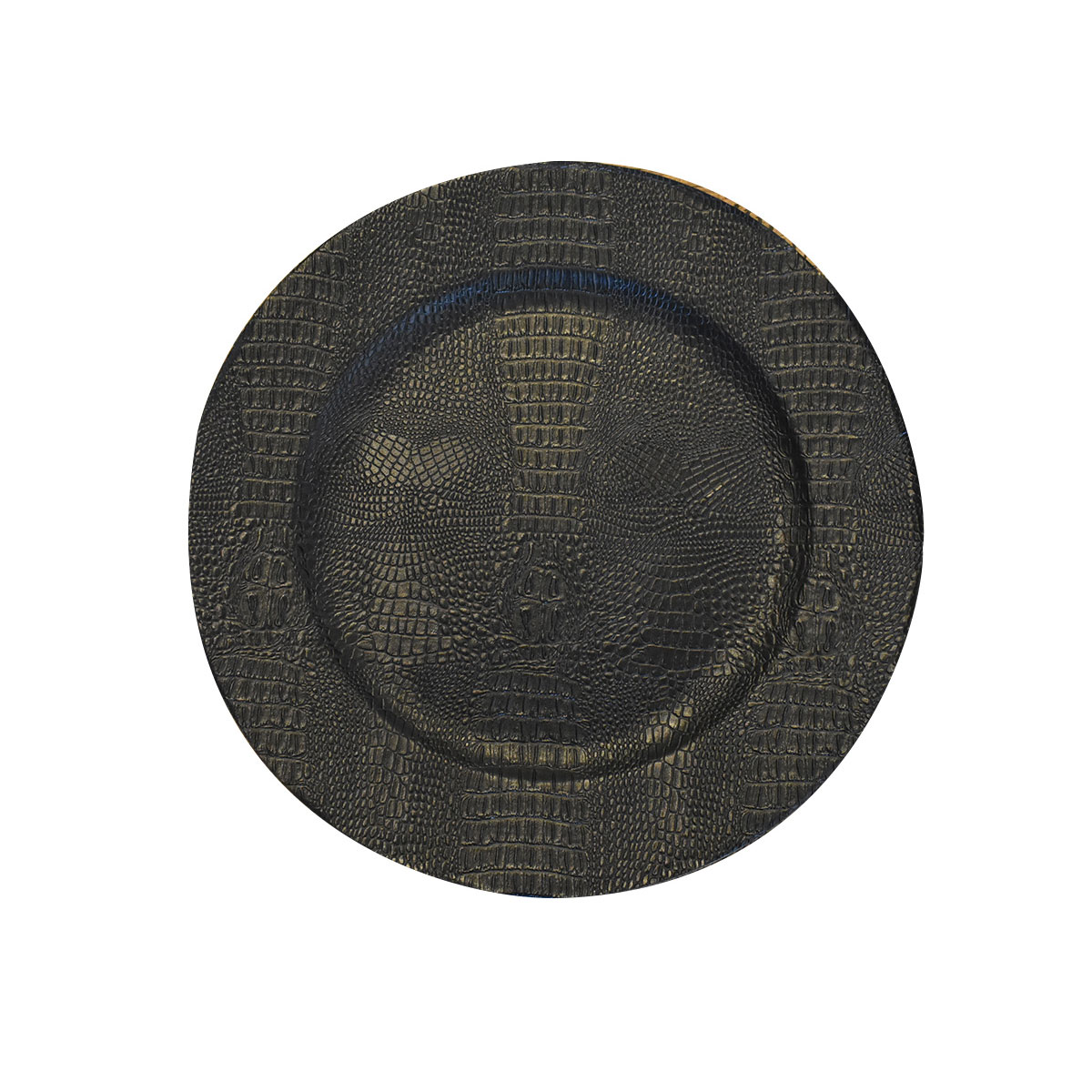 Sousplat de Plástico Croco Preto  - Lemis