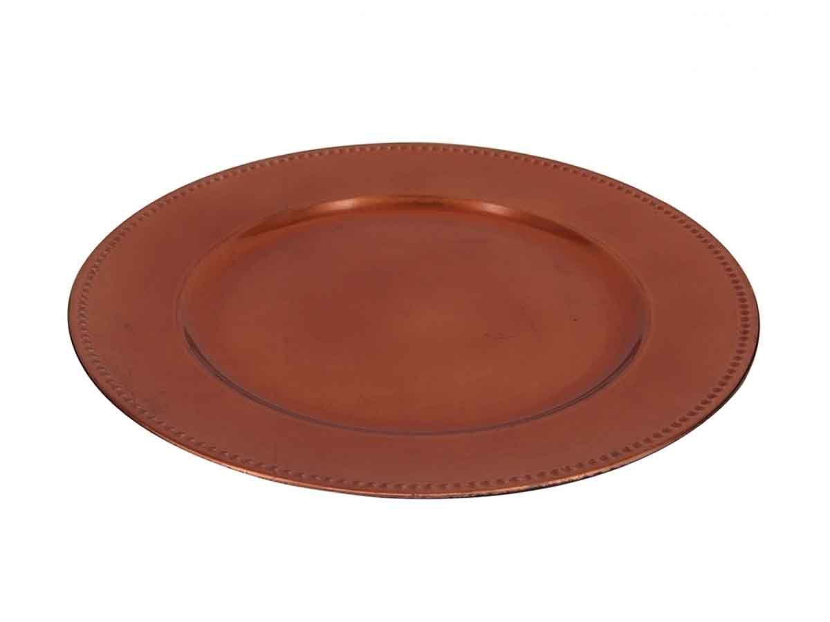 Sousplat Em Plástico Bronze  - Lemis
