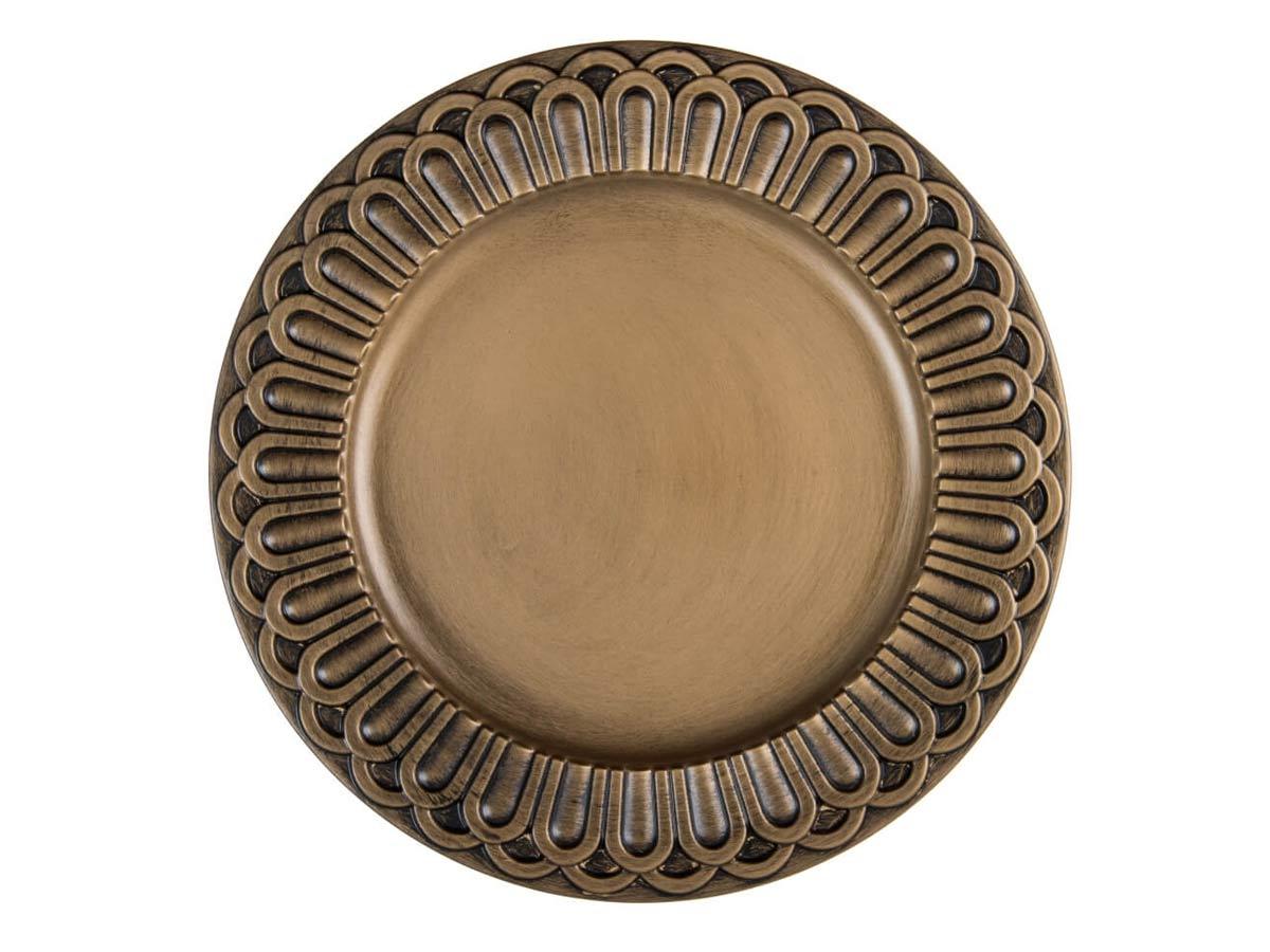 Sousplat Imperial Turim Ouro Antique  - Lemis