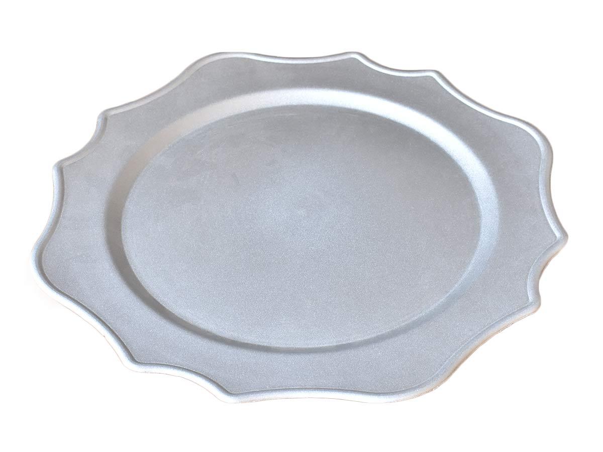 Sousplat Plástico Cinza 33cm  - Lemis