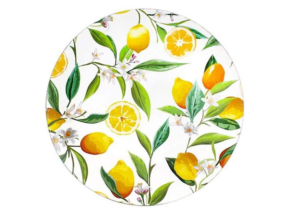 Sousplat Plástico Limão Branco  - Lemis