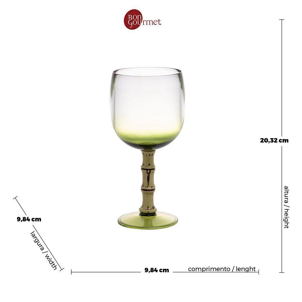 Taça Acrílico Verde Bon Gourmet 500 ml  - Lemis