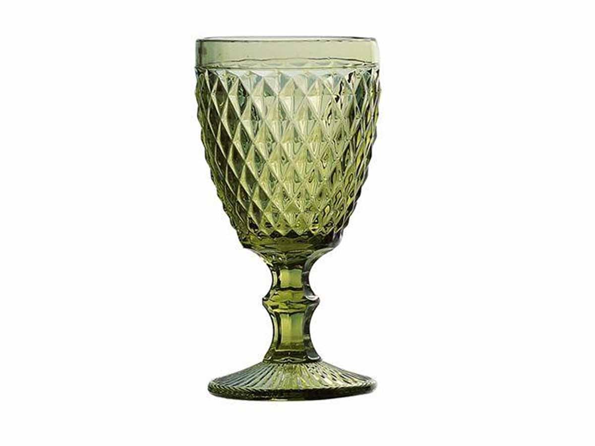 Taça De Bico Em Vidro Para Água Lyor Abacaxi 325 ml Verde  - Lemis