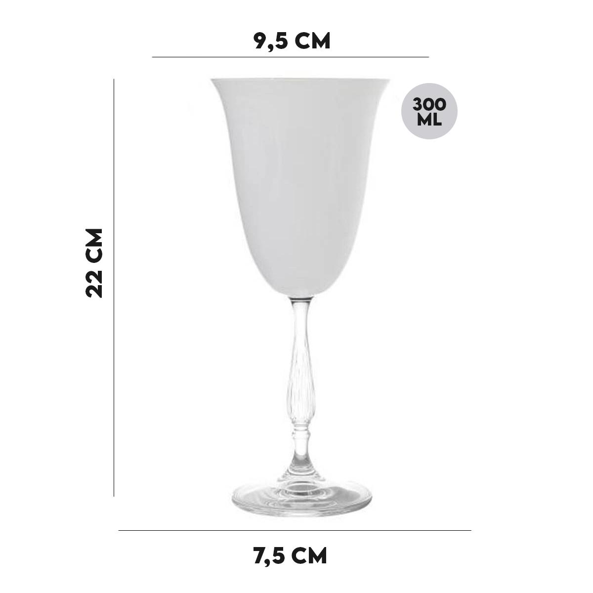 Taça de Vidro Lyor 300 ml Branca  - Lemis