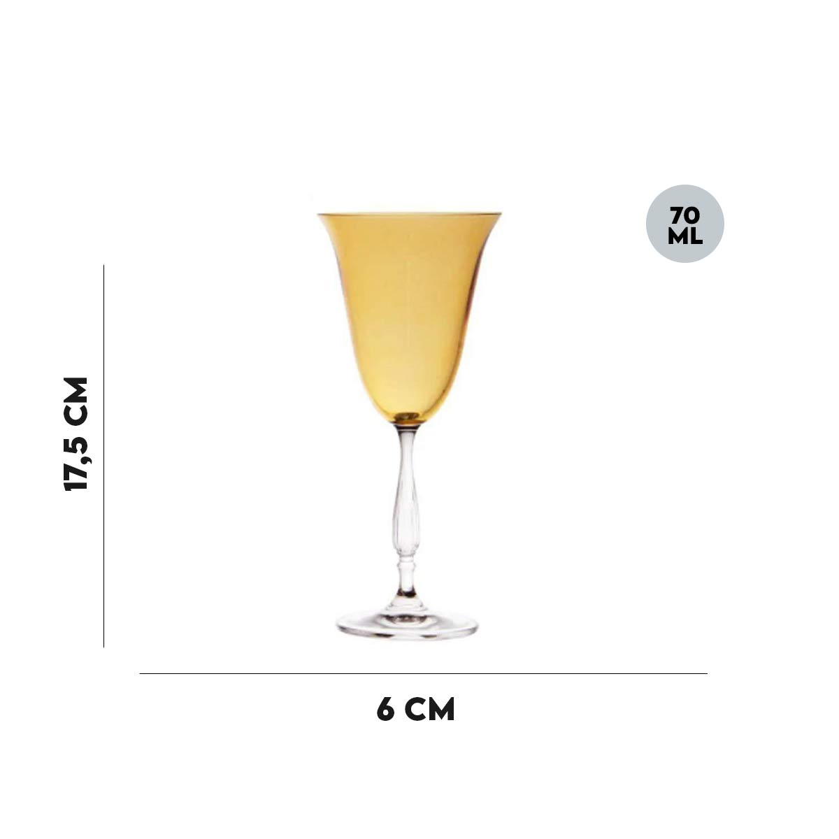 Taça Fregata Ambar Lyor 70 ml  - Lemis