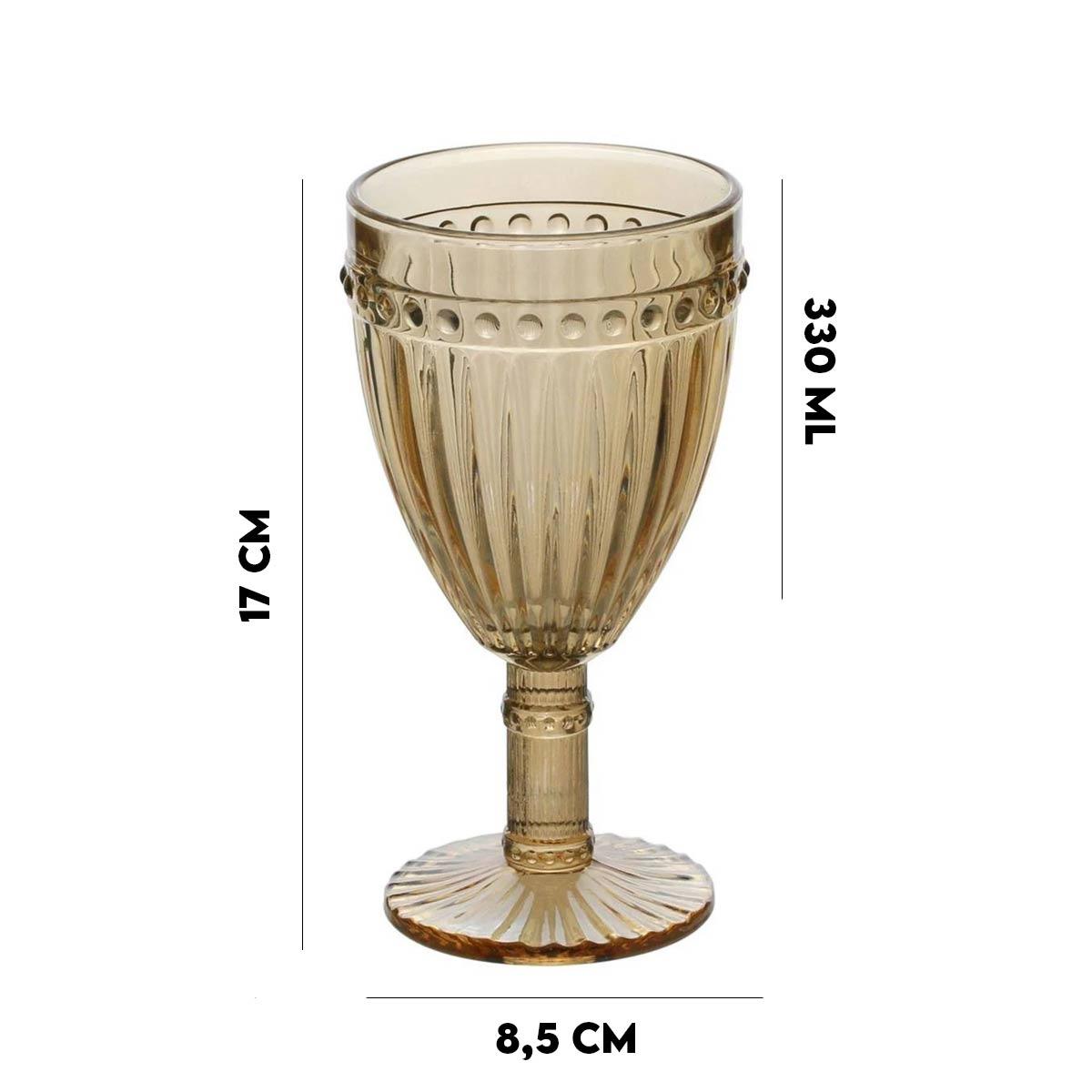 Taça para água de vidro Sodo-Calcico 330 ml  - Lemis