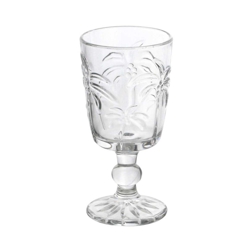 Taça para Agua de Vidro Sodo Calcico Tropical Palm 310 ml  - Lemis