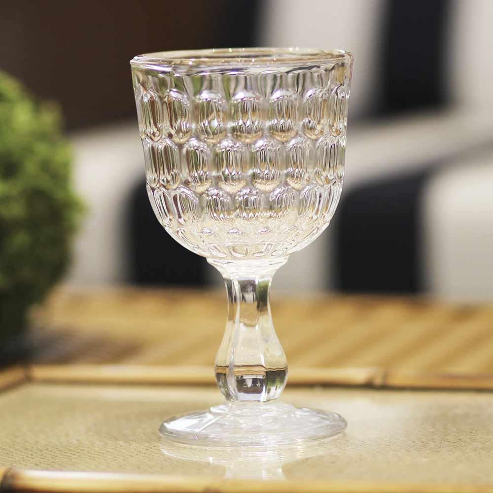 Taça para Água de Vidro Transparente BTC 300 ml  - Lemis