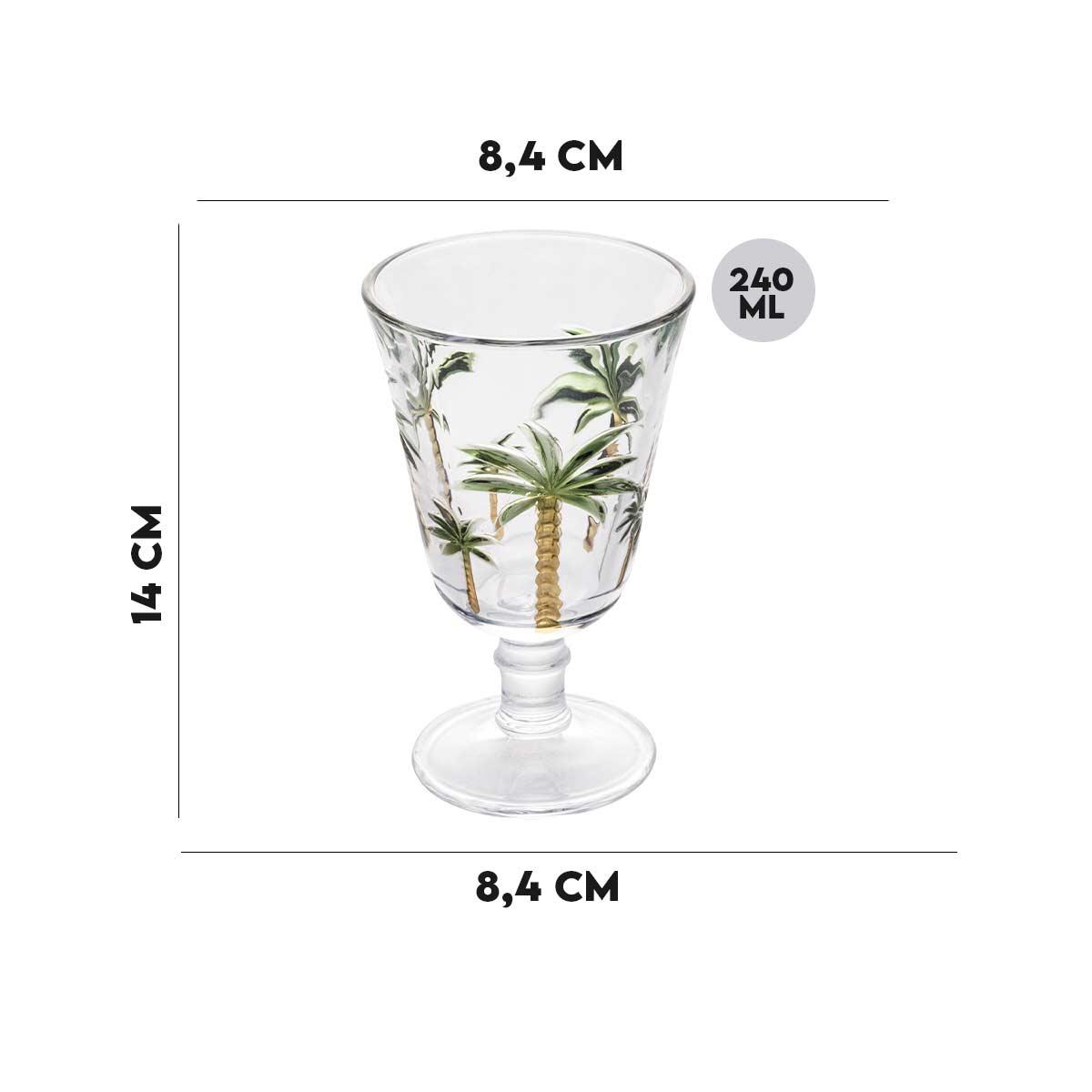 Taça para Água Palm Hand Lyor Cristal 240ml  - Lemis
