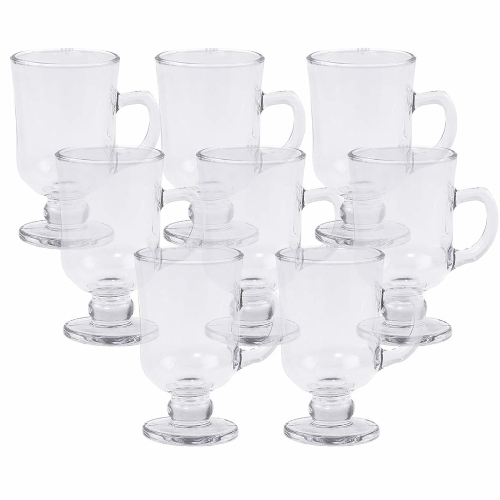 Taça para Cappuccino com Alça e Pé de Vidro Sodo-Cálcico 114ml Lyor  - Lemis