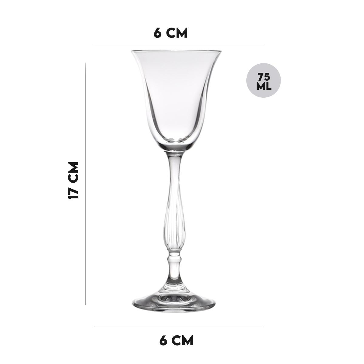 Taça para Licor de Vidro 75ml Lyor  - Lemis