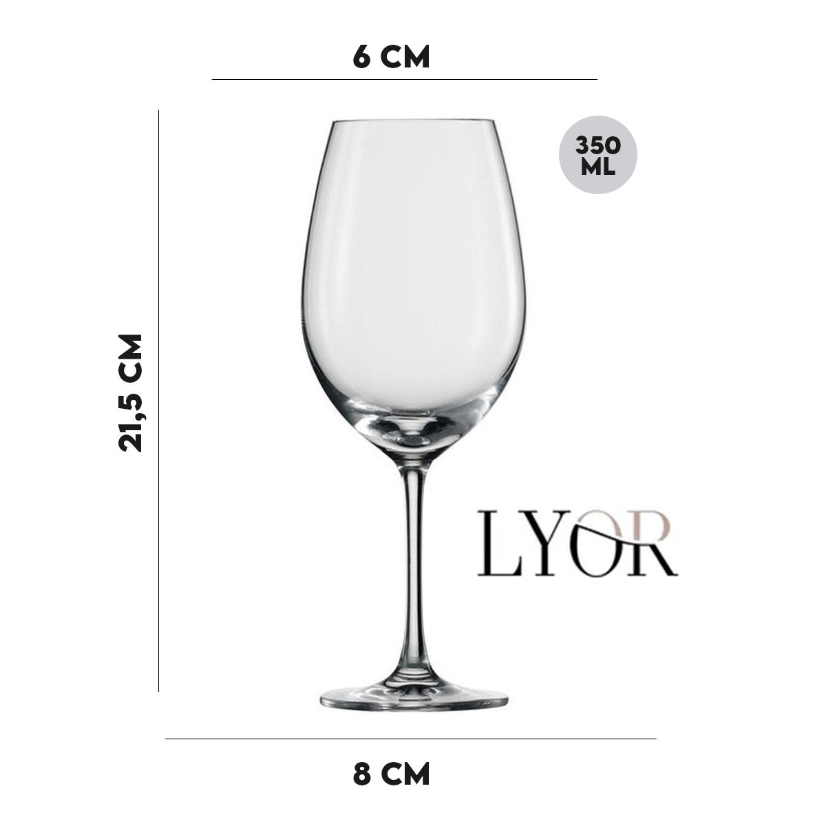 Taça para Vinho 350ml  Lyor  - Lemis