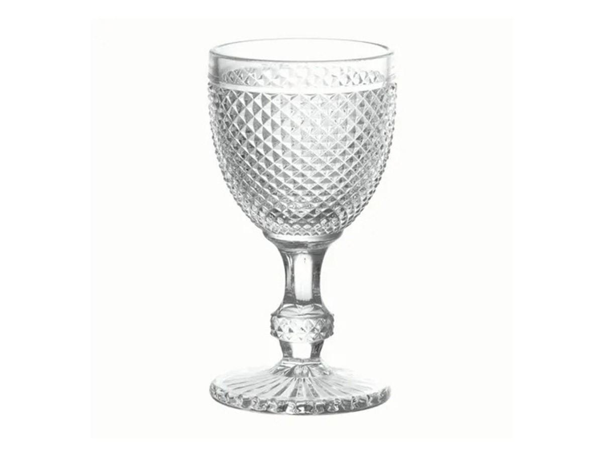 Taça Para Água Bico De Jaca De Vidro Transparente 300 ml  - Lemis
