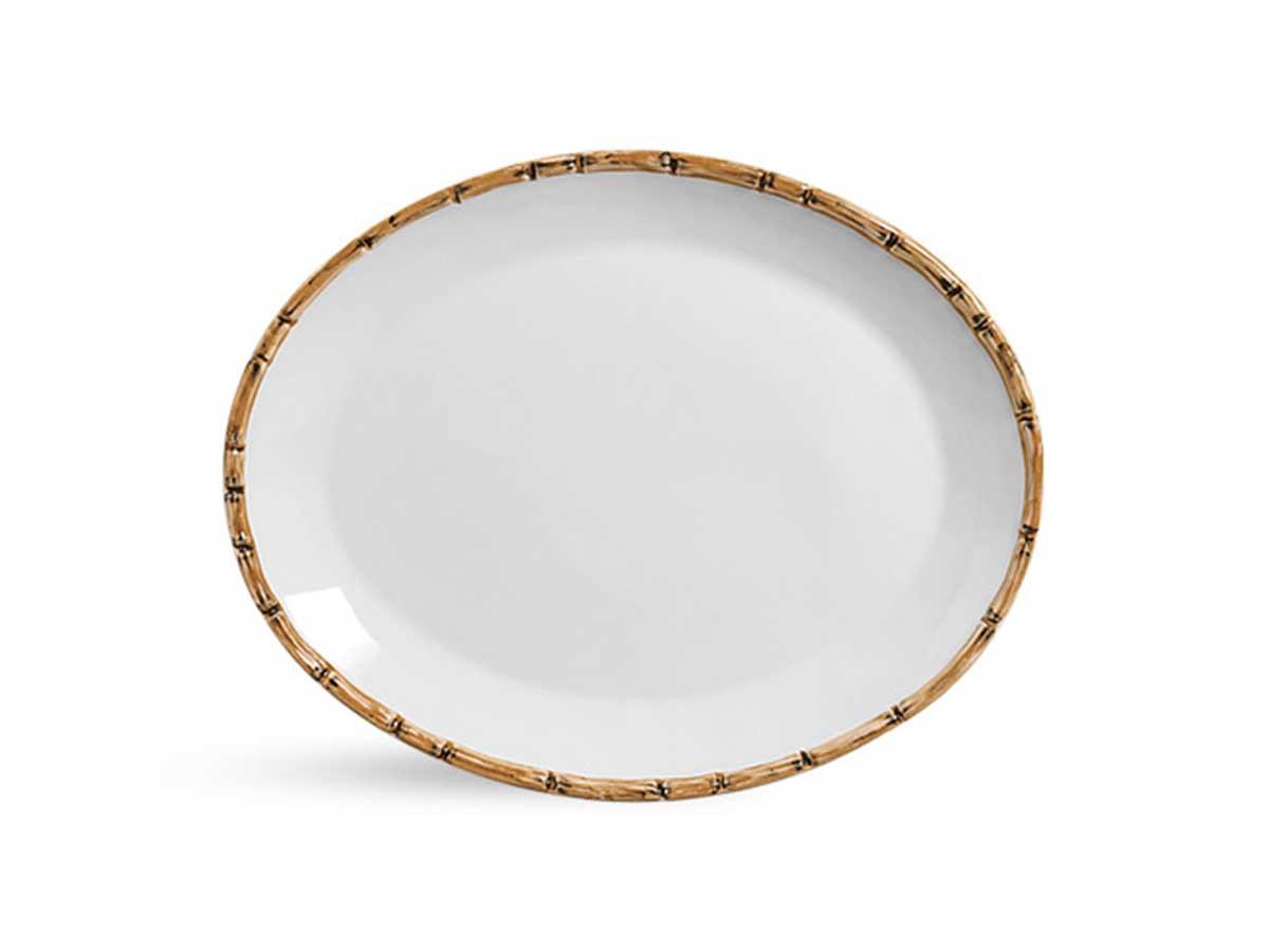 Travessa Rasa Bambu Scalla G 37cm  - Lemis